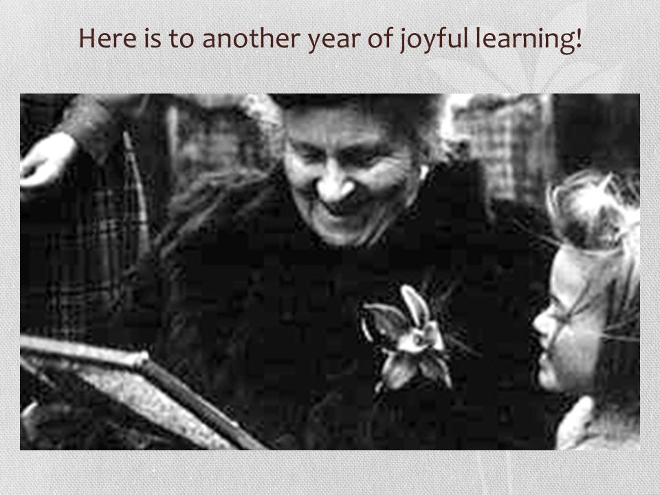 Here is to another year of joyful learning!