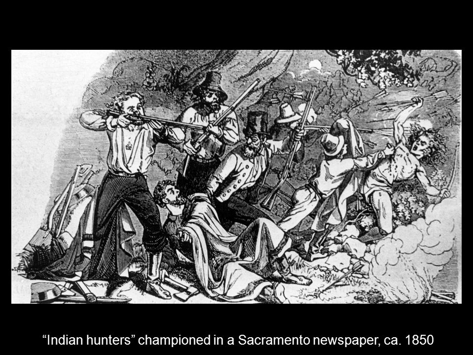 Indian hunters championed in a Sacramento newspaper, ca. 1850