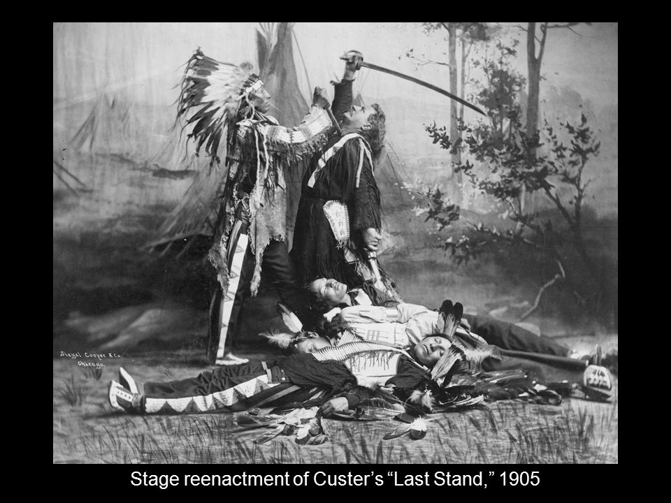 Stage reenactment of Custer's Last Stand, 1905