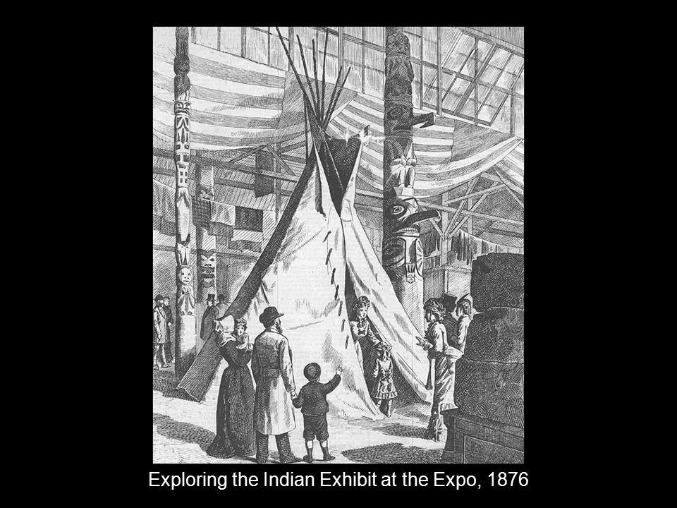 Exploring the Indian Exhibit at the Expo, 1876