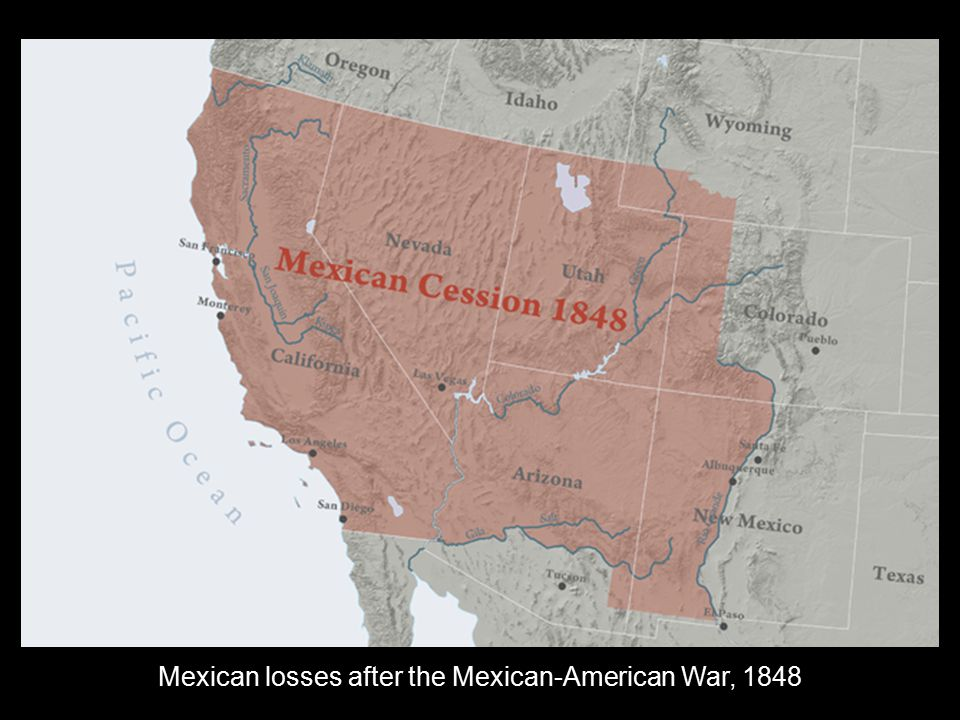 Mexican losses after the Mexican-American War, 1848