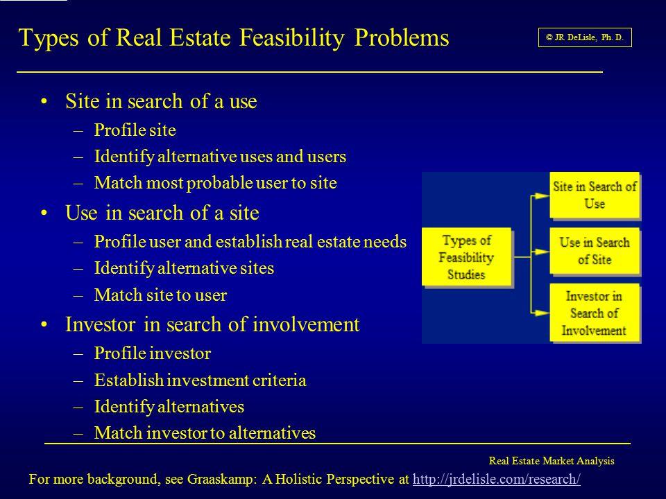 Real Estate Market Analysis © JR DeLisle, Ph.D.