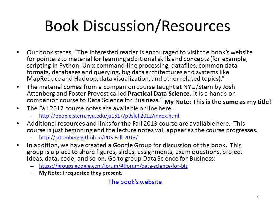 """Book Discussion/Resources Our book states, """"The interested reader is encouraged to visit the book's website for pointers to material for learning addi"""