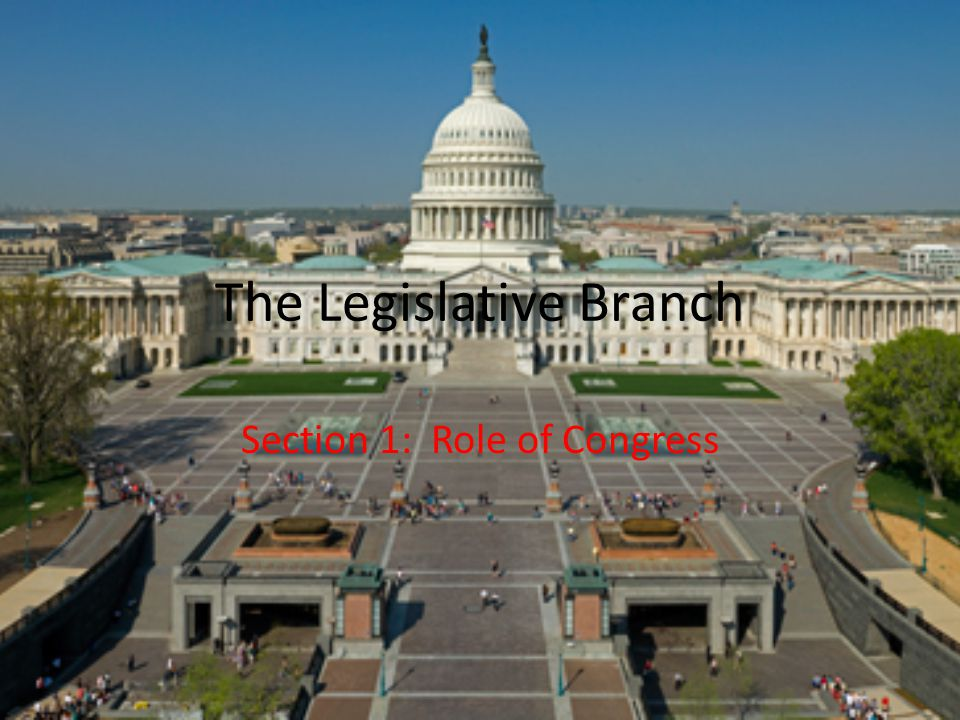 Legislative Branch Section 3: Powers of Congress