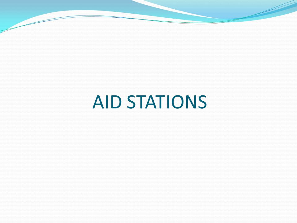 AID STATIONS