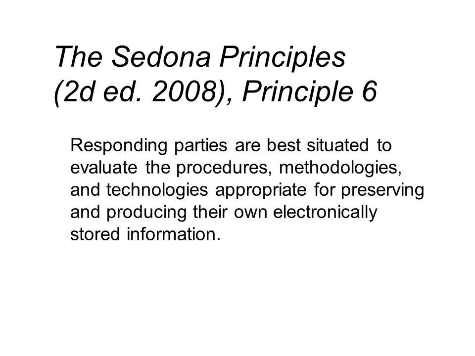 The Sedona Principles (2d ed.