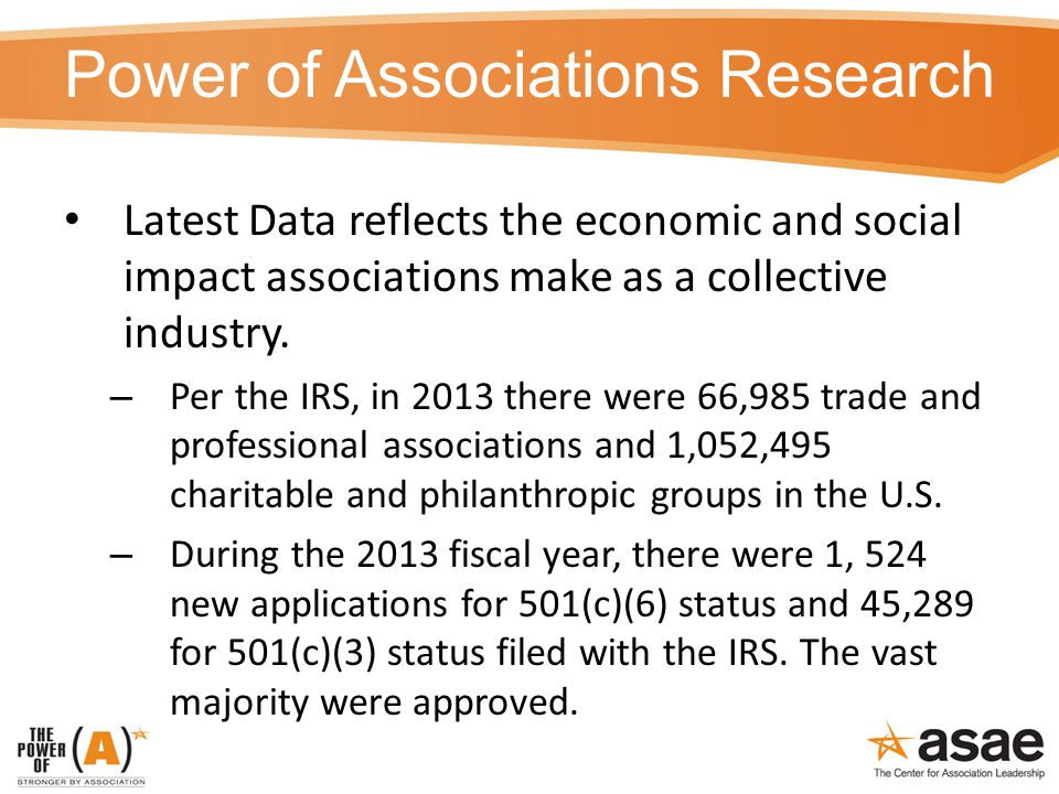 Power of Associations Research Latest Data reflects the economic and social impact associations make as a collective industry.