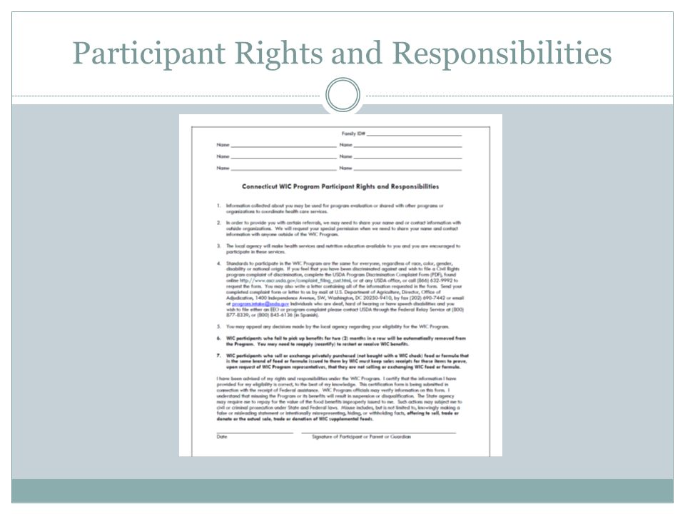 Discrimination Complaints Policy Any individual who applies to or participates in the WIC program has the right to file a discrimination complaint.