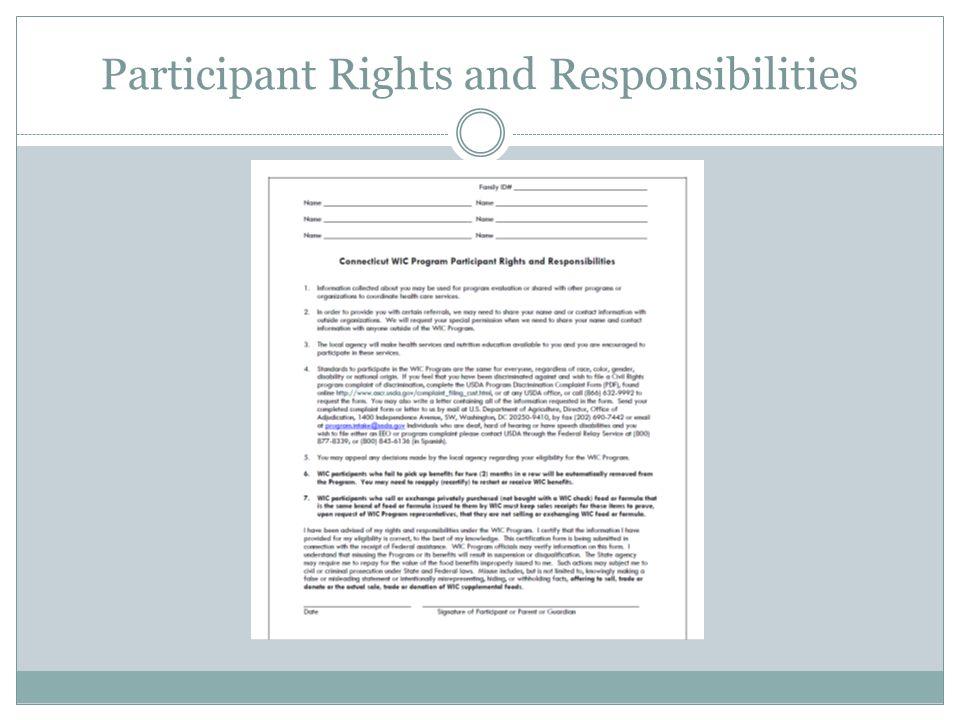 WIC Program Civil Rights Discrimination Complaint Form