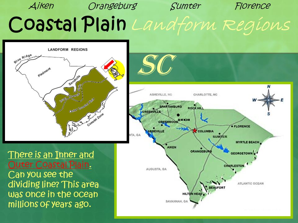 Coastal Plain Landform Regions There is an Inner and Outer Coastal Plain.