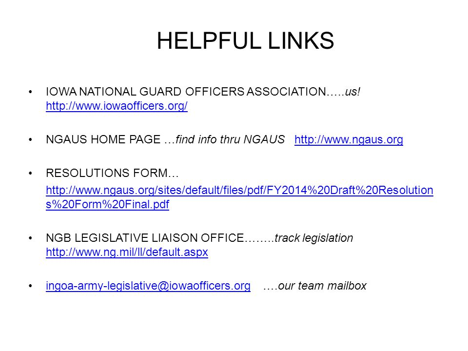 HELPFUL LINKS IOWA NATIONAL GUARD OFFICERS ASSOCIATION…..us.