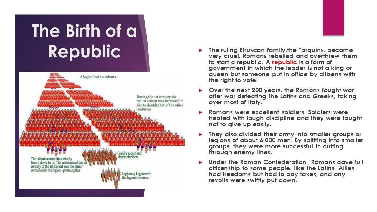Section 2- THE ROMAN REPUBLIC