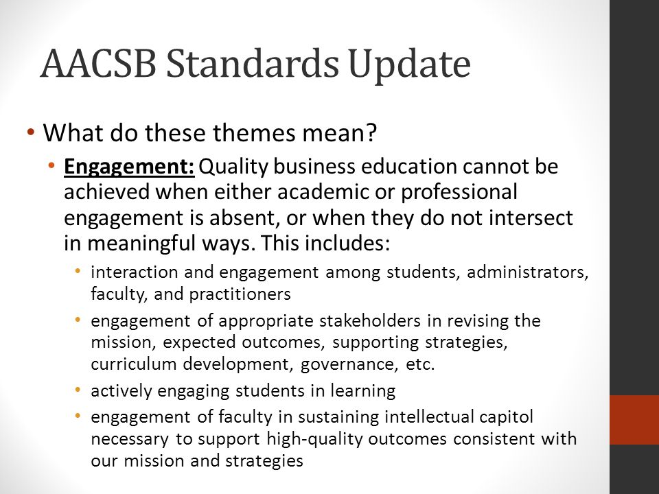 How Do The New Standards Impact Faculty Qualifications.