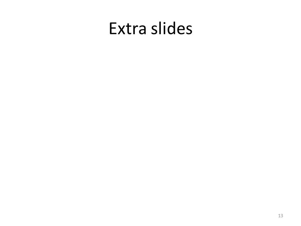 Extra slides 13