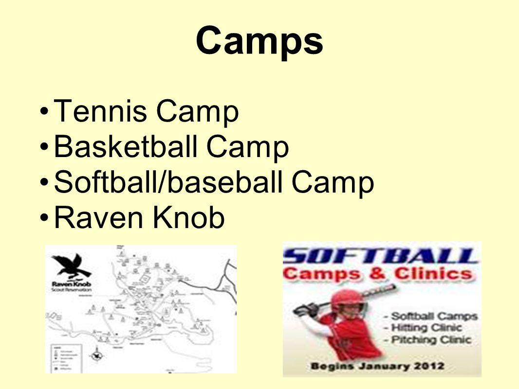 Camps Tennis Camp Basketball Camp Softball/baseball Camp Raven Knob