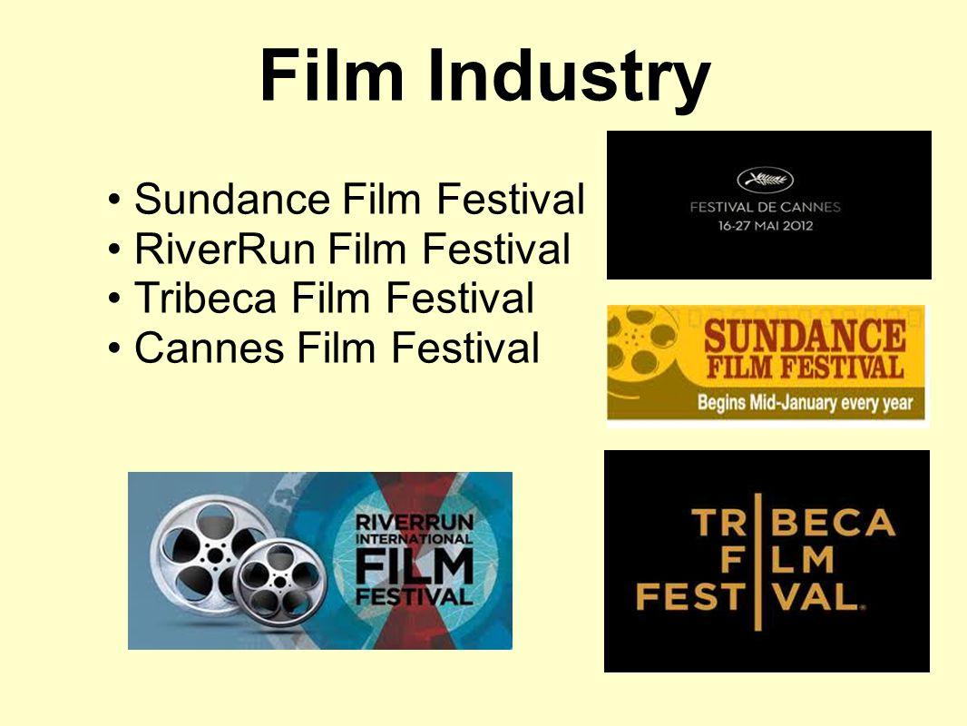 Film Industry Sundance Film Festival RiverRun Film Festival Tribeca Film Festival Cannes Film Festival