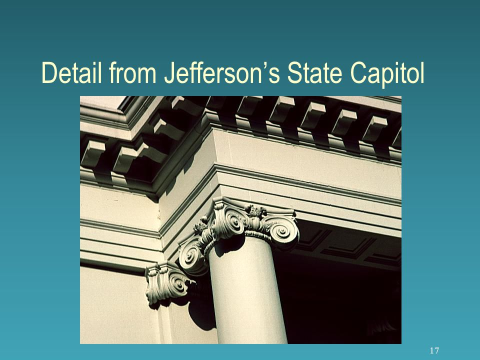 17 Detail from Jefferson's State Capitol