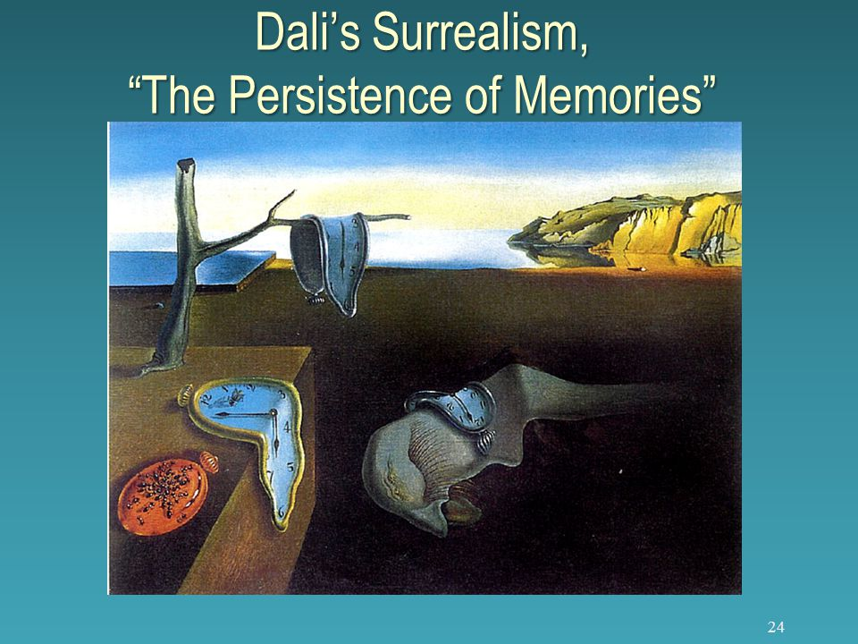 24 Dali's Surrealism, The Persistence of Memories