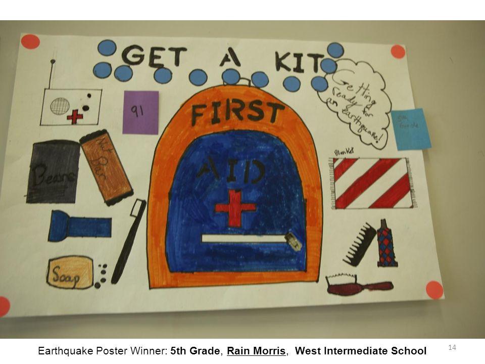14 Earthquake Poster Winner: 5th Grade, Rain Morris, West Intermediate School