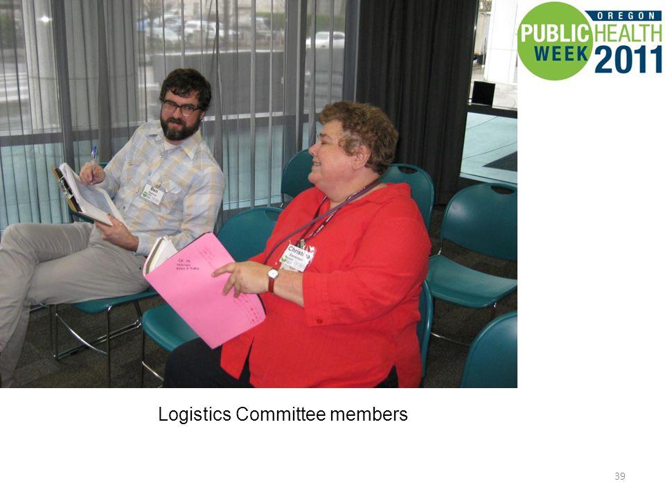 39 Logistics Committee members