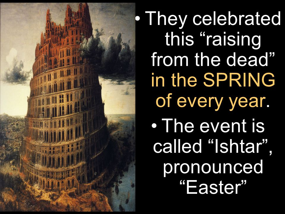 They celebrated this raising from the dead in the SPRING of every year.