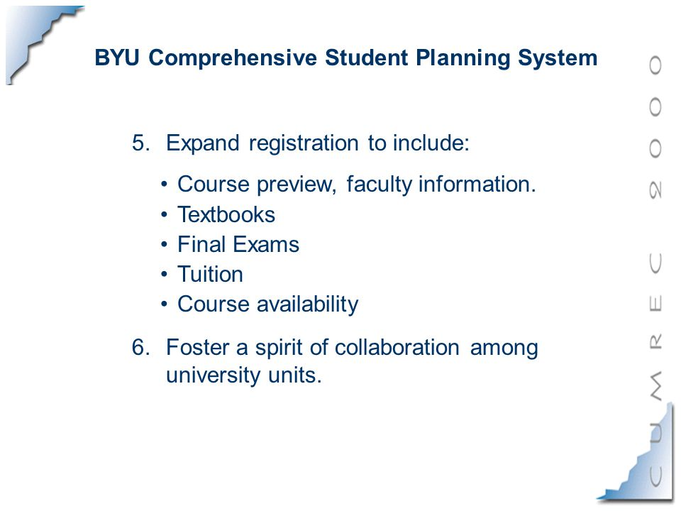 5.Expand registration to include: Course preview, faculty information.