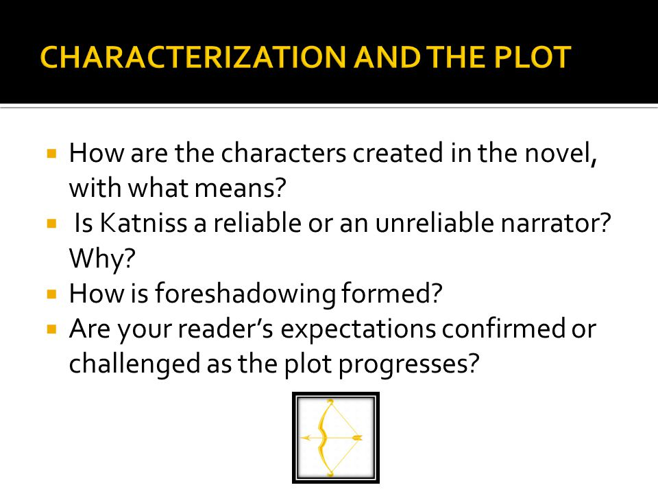  How are the characters created in the novel, with what means.