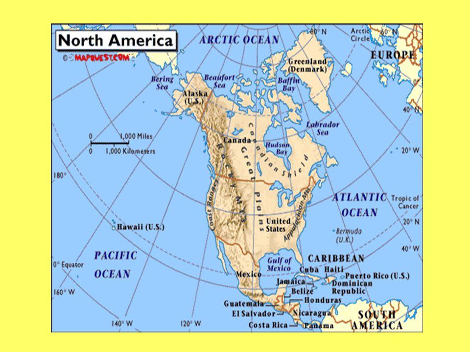 What mountain range runs through the western U.S. and Canada?