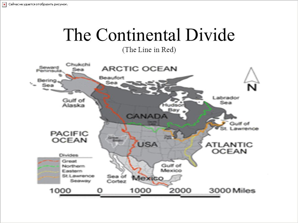 The Continental Divide (The Line in Red)
