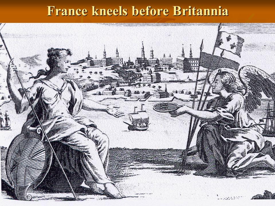 France kneels before Britannia