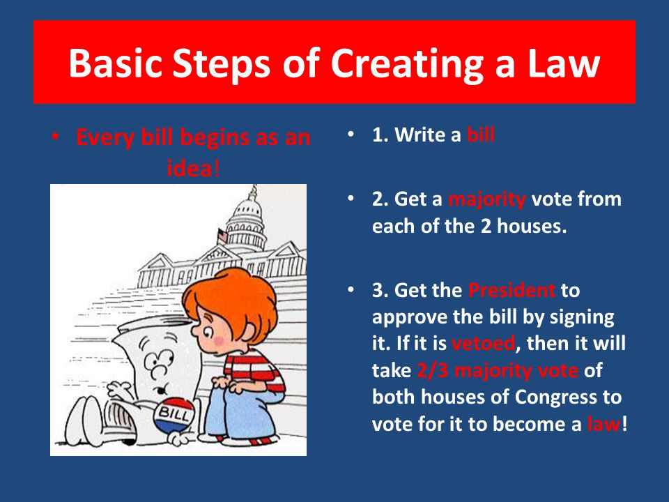 How Does Congress Make a Law? Congress provides for the common good of the people by passing bills that it thinks will help the people.