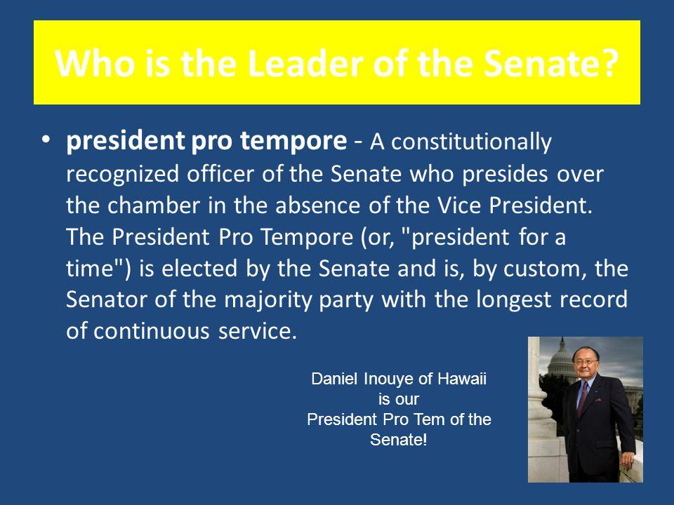 Who Presides Over the Senate? The Vice President of the United States! Joe Biden