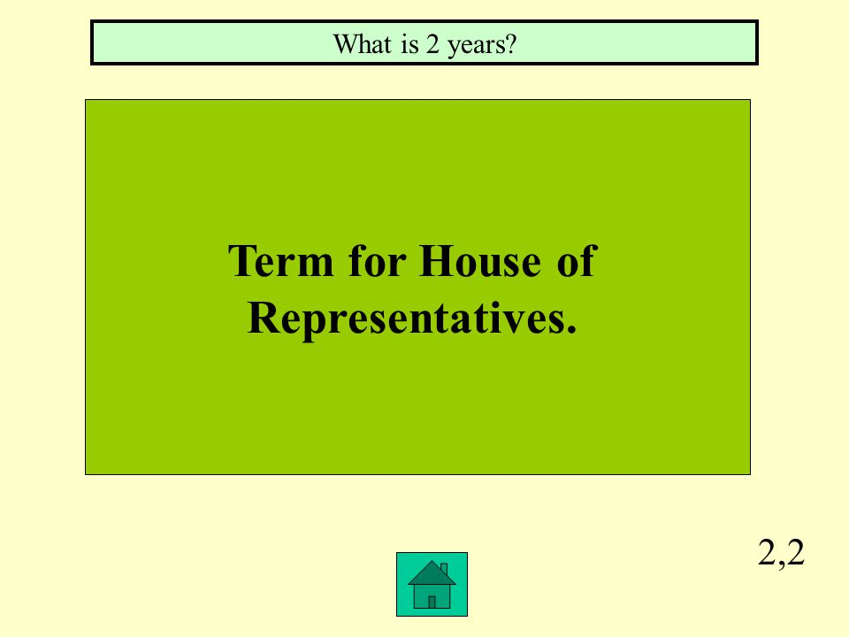 2,1 Term for Senate. What is 6 years