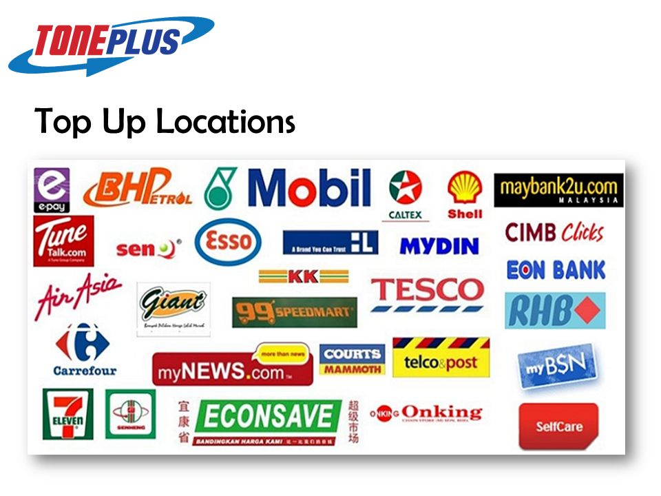 Top Up Locations