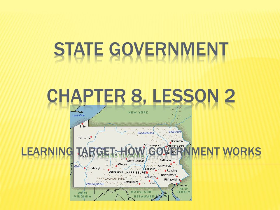  There are 50 states in the United States.Each one has its own STATE GOVERNMENT.