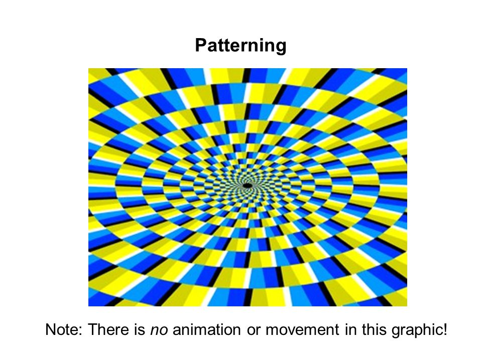 Patterning Note: There is no animation or movement in this graphic!