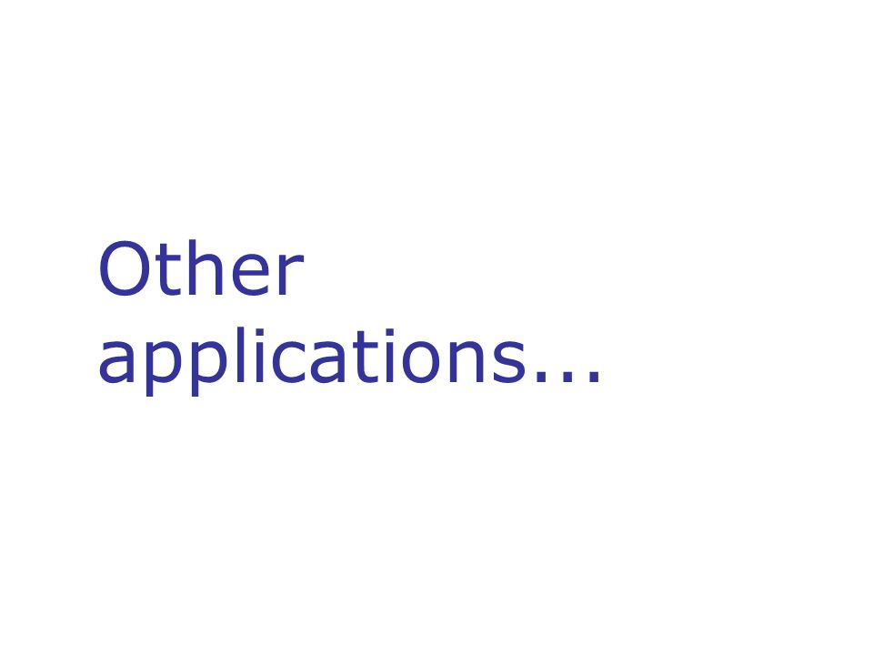 Other applications...
