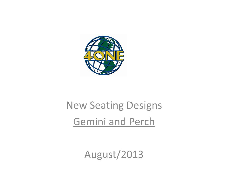 NE New Seating Designs Gemini and Perch August/2013
