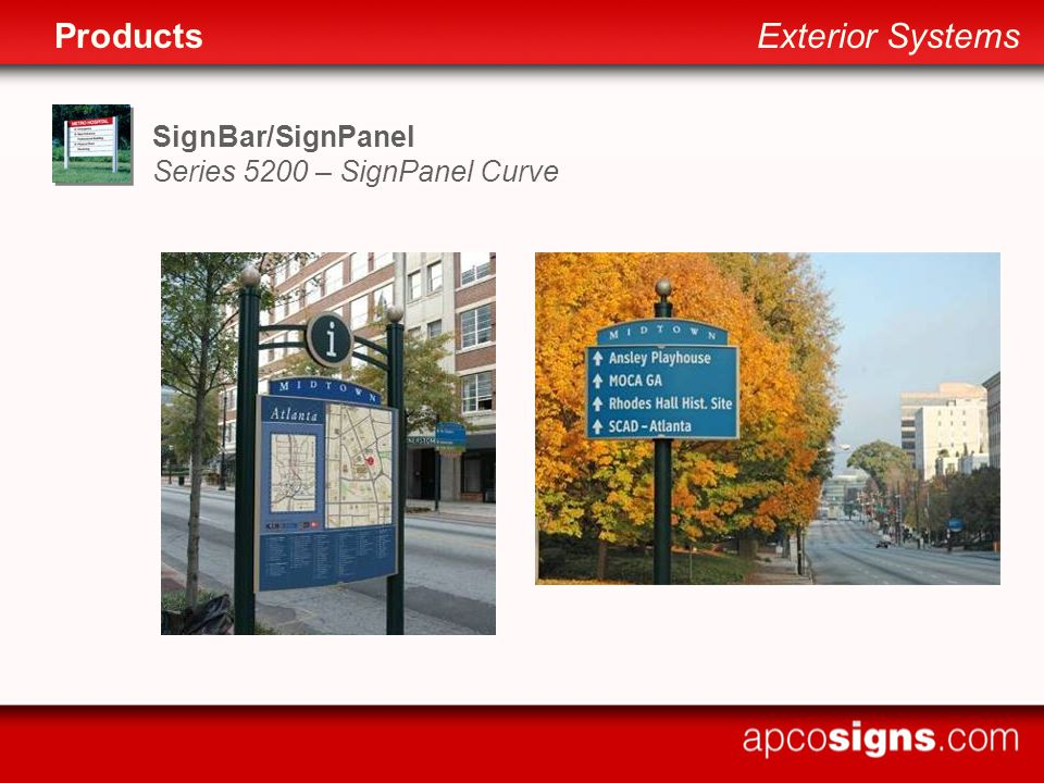 SignBar/SignPanel Series 5200 – SignPanel Curve ProductsExterior Systems