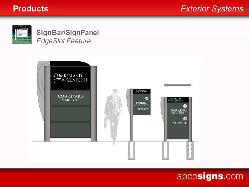 SignBar/SignPanel EdgeSlot Feature ProductsExterior Systems
