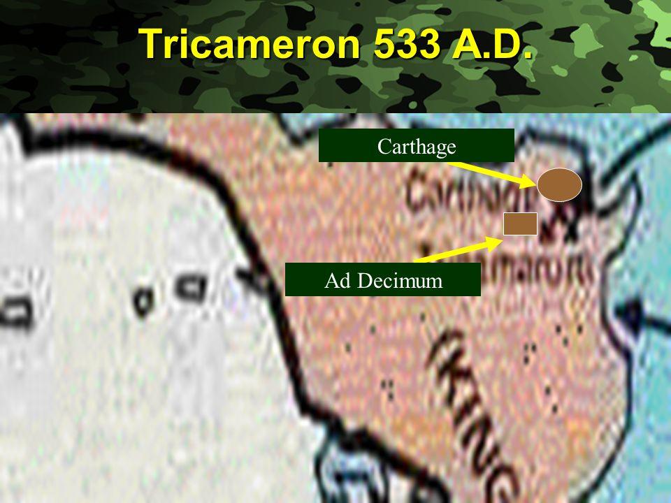 Slide 11 Tricameron 533 A.D. Carthage Ad Decimum