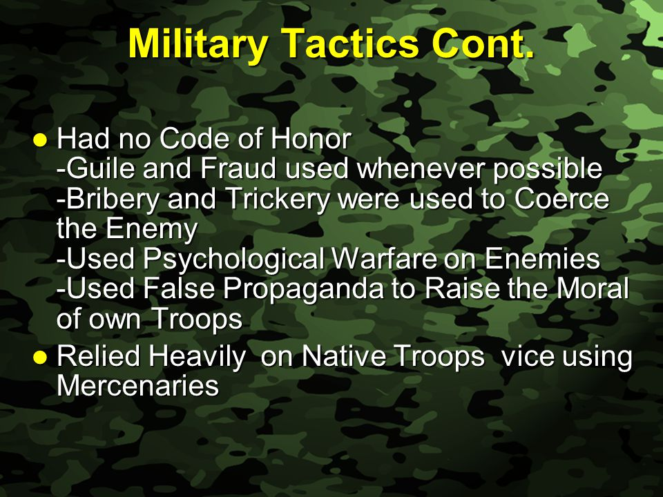 Slide 27 Military Tactics Cont.