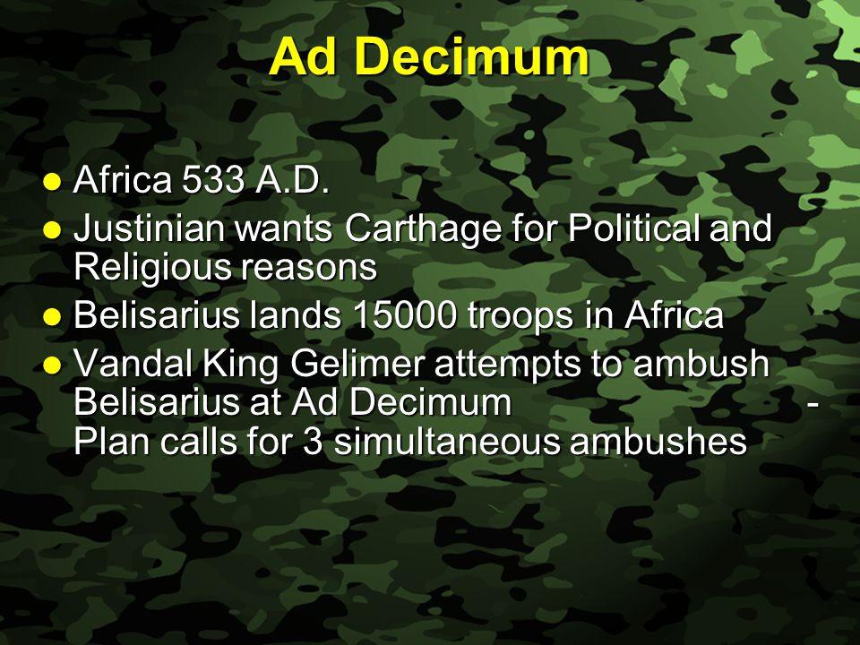 Slide 9 Ad Decimum Africa 533 A.D. Africa 533 A.D.