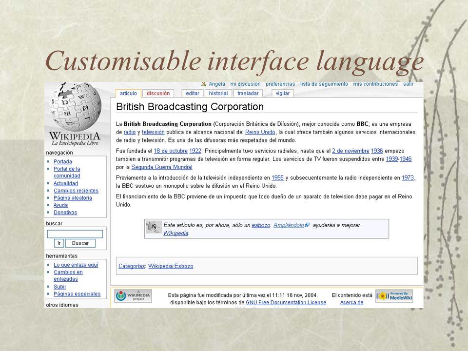Interlanguage linking
