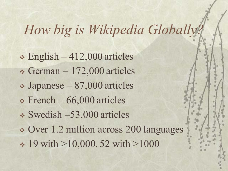 How big is Wikipedia.