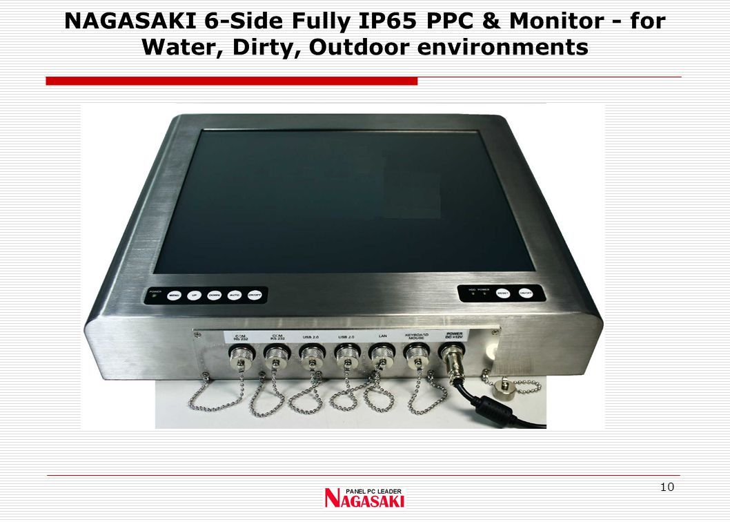 10 NAGASAKI 6-Side Fully IP65 PPC & Monitor - for Water, Dirty, Outdoor environments