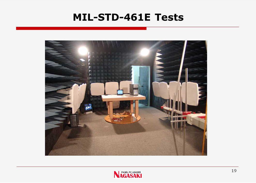19 MIL-STD-461E Tests