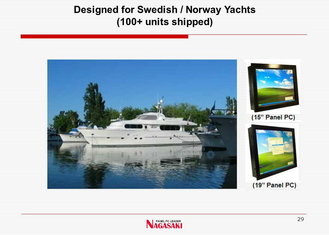 29 Designed for Swedish / Norway Yachts (100+ units shipped)