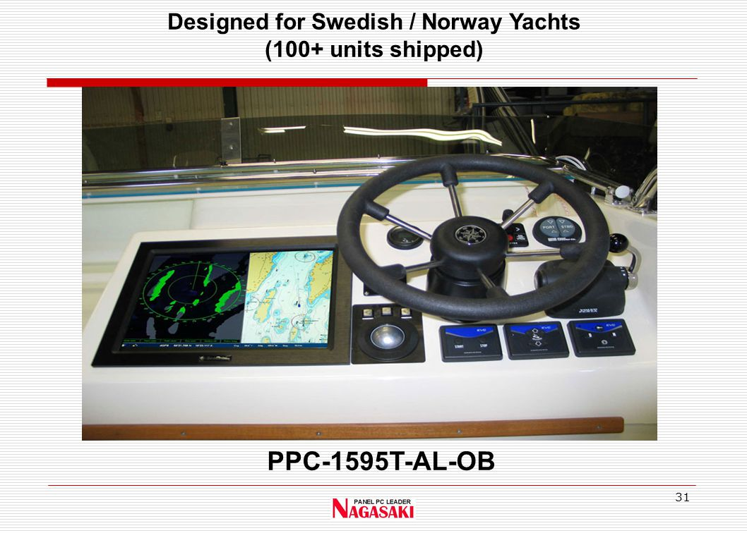 31 PPC-1595T-AL-OB Designed for Swedish / Norway Yachts (100+ units shipped)