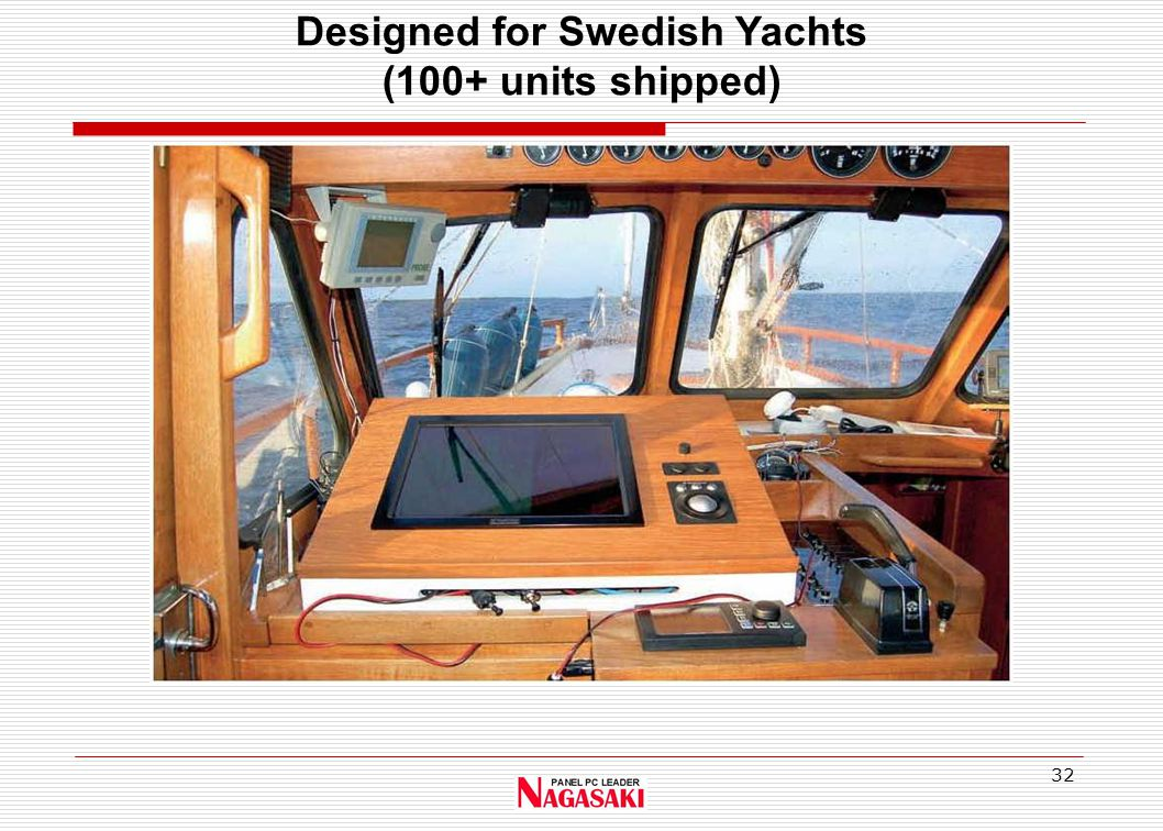 32 Designed for Swedish Yachts (100+ units shipped)